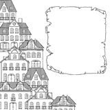 City sketch, houses background for your design Royalty Free Stock Image
