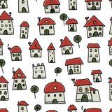 City sketch, seamless pattern for your design Stock Photo