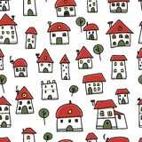 City sketch, seamless pattern for your design Stock Images