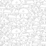 City sketch, seamless pattern for your design Stock Photography