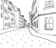City sketch. Sketch of the city. vector hand drawn illustration Royalty Free Stock Image