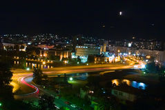City of Skopje at night Royalty Free Stock Image