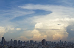 City Sky Cloud. Cityscape with cloud on the sky Stock Image