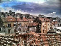City. Sky in Croatia Stock Images