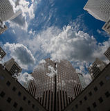 City Sky Scape. With clouds and blue sky Royalty Free Stock Photo