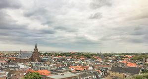City sky view of Egmond the Netherlands. A City sky view of city Egmond in the Netherlands royalty free stock images