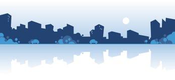 City skyline. Vector silhouette of city skyline Royalty Free Stock Photos