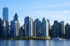 City skyline. A view of downtown vancouver stock photos