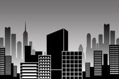 City skyline stock illustration