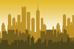 City skyline. Skyline of a modern city in soft color tones Stock Photos