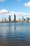 City skyline. A city skyline view from across the bay stock photo