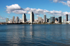 City skyline. View of san diego skyline from coronado island royalty free stock photo