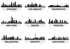 City skyline. Set,  vector illustration Stock Images