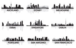 City skyline Royalty Free Stock Photos