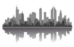 City skyline. Modern city skyline for business or architecture concept design Royalty Free Stock Photography