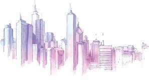 City Skyline. Stock Photography