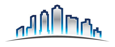 City Skyline Logo Royalty Free Stock Photos