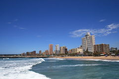 City skyline. Durban city beach view, south africa Stock Photography