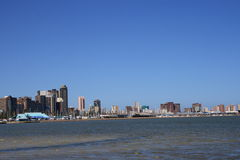 City skyline. Durban city beach view, south africa stock images