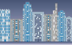 City skyline. Illustration of city skyline at night Royalty Free Stock Image