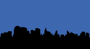 City skyline. Illustration of an urban skyline stock illustration