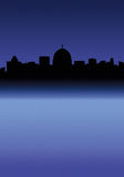 City Skyline. Italian City Skyline at Night (like Rome royalty free illustration