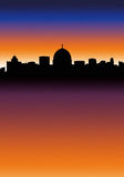 City Skyline. Italian City Skyline at Night (like Rome vector illustration