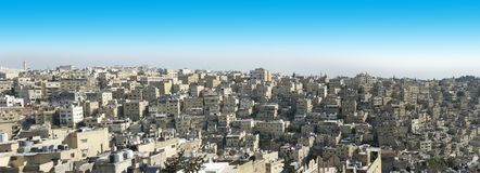 City Skyline, Amman, Jordan, Travel. Skyline of the `White City` of Amman, Jordan. The Middle East is a popular travel destination for people or tourists on stock photography