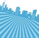 City Skyline Background Stock Photo