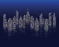 city skyline background vector royalty free illustration