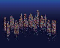 city skyline background vector stock illustration