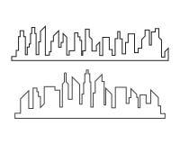 city skyline background vector illustration design stock illustration