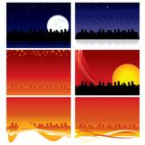 City Skyline Backgrounds Stock Photo