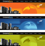 City skyline banners Stock Photo