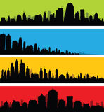 City Skyline Banners Stock Images