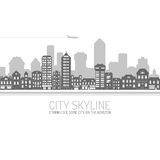 City Skyline Black Royalty Free Stock Photos