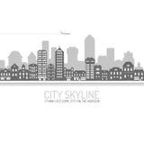 City Skyline Black Royalty Free Stock Photos