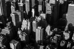 City skyline in black and white Royalty Free Stock Images