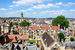 City Skyline and Brasenose College, Oxford. Royalty Free Stock Image