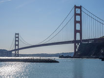 City skyline and bridge Royalty Free Stock Images
