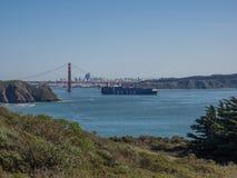 City skyline and bridge Stock Image