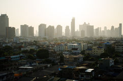 City skyline. And Building of Bangkok in morning Royalty Free Stock Photo
