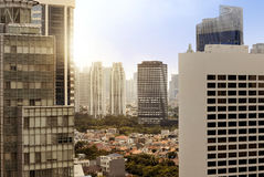 City skyline with building and urban skyscrapers Stock Images