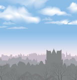 City skyline. Buildings silhouette cityscape. Stock Photography