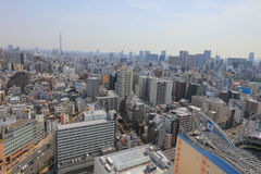 City skyline with Bunkyo and Taito wards. Tokyo city skyline. Bunkyo ward aerial view. at 2016 Stock Photography