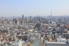 City skyline with Bunkyo and Taito wards Royalty Free Stock Images