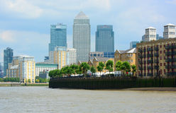 City skyline of Canary Wharf London Royalty Free Stock Photography