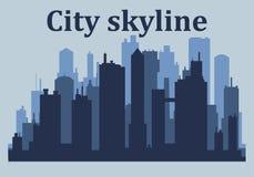 City skyline.City skyscrapers building office stock illustration