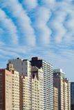 City Skyline Closeup. With Dramatic Clouds stock photos