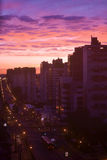 City skyline of Curitiba Paraná during sunset Royalty Free Stock Image